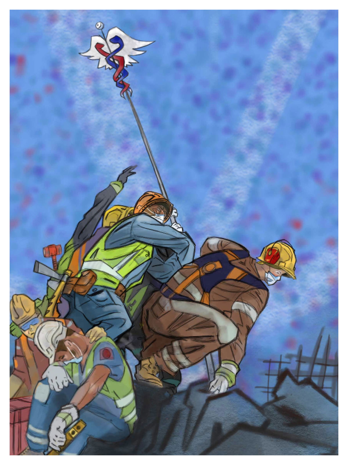 Construction Workers by Owen Swain